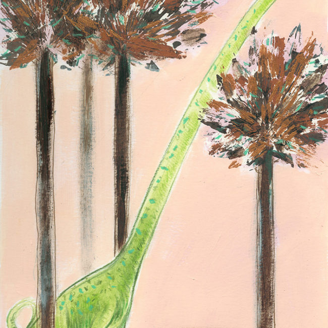 Illustration of a giant sauropod dinosaur