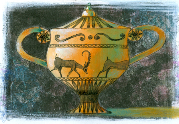 Illustration of a greek vase from the centennial edition of the book